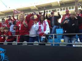 Plenty of 49er fans celebrated the NFC playoff win against the Carolina Panthers on Sunday.