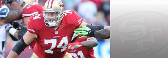 How do you protect your franchise quarterback against one of the best defenses in football? Let Pro Bowler Joe Staley protect his blindside. Read bio.