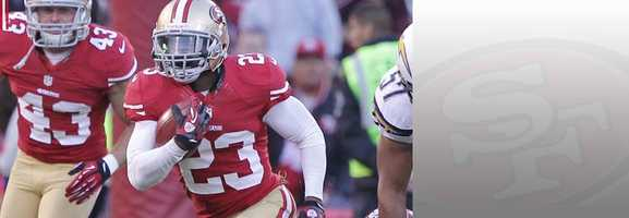 Some 49ers fans have been asking where LaMichael James has been of late. The dynamic running back/kick returner has seen limited action in the backfield, and hasn't done much on special teams during the 49ers' playoff run. But James' speed makes him a threat to break loose against Seattle. Read bio.