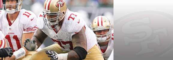 All-Pro Guard Mike Iupati will be the man leading the way for Frank Gore and the 49ers ground game in Seattle. Read bio.