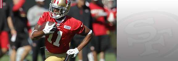 Rookie wide receiver Quinton Patton, who was injured earlier in the year, only has three receptions this season, but one of those catches was an important late grab against the Arizona Cardinals. Patton has shown he can make a big catch if needed for the Niners. Read bio.