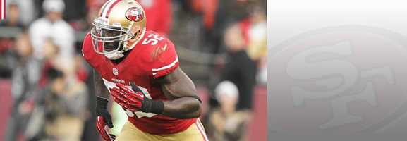 Look for linebacker Patrick Willis, who is the coach on the field for the Niners' defense, to be responsible for keeping Seahawks quarterback Russel Wilson in the pocket and contained on Sunday. Read bio.