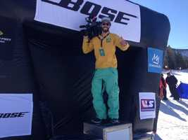 KCRA 3 photographer Robbie Beasom got to hang on the winner's podium at Mammoth Mountain.