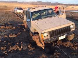 On Thursday afternoon, KCRA 3 found several vehicles stuck in the muck that used to be the lakebed.