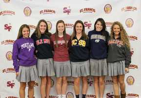 Six St. Francis High School seniors signed letters of intent to play sports in college on National Signing Day.