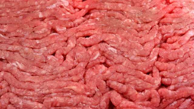 raw ground beef closeup