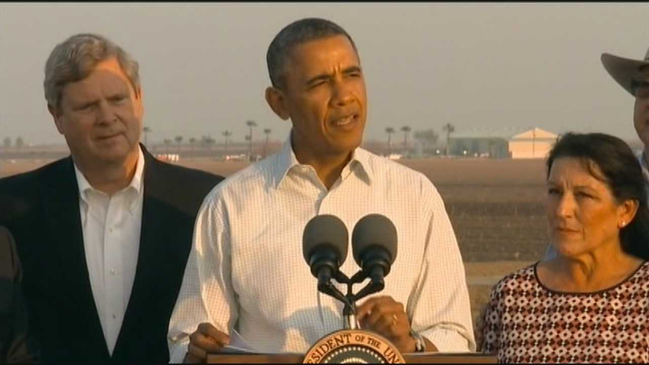 President Barack Obama said Friday the U.S. will have to make difficult choices about how it uses and conserves water as he paid a visit to drought-stricken California.