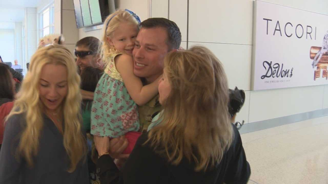 Fifteen soldiers who were part of a medical evaluation team returned home from Afghanistan to very excited families.