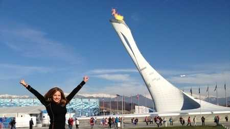 Deirdre jumping Sochi
