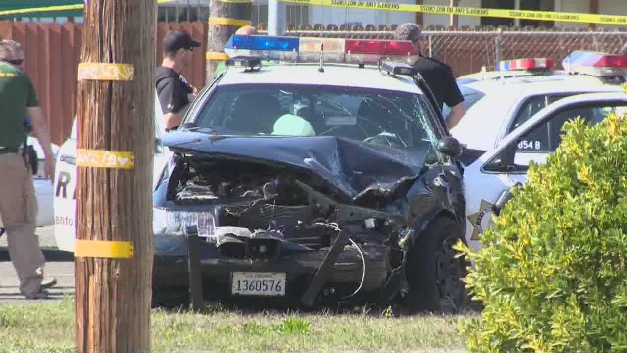 3 Sacramento Sheriff officers injured in high speed chase