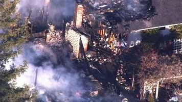 Two people died when flames engulfed a home in Placerville Friday morning, fire officials said.