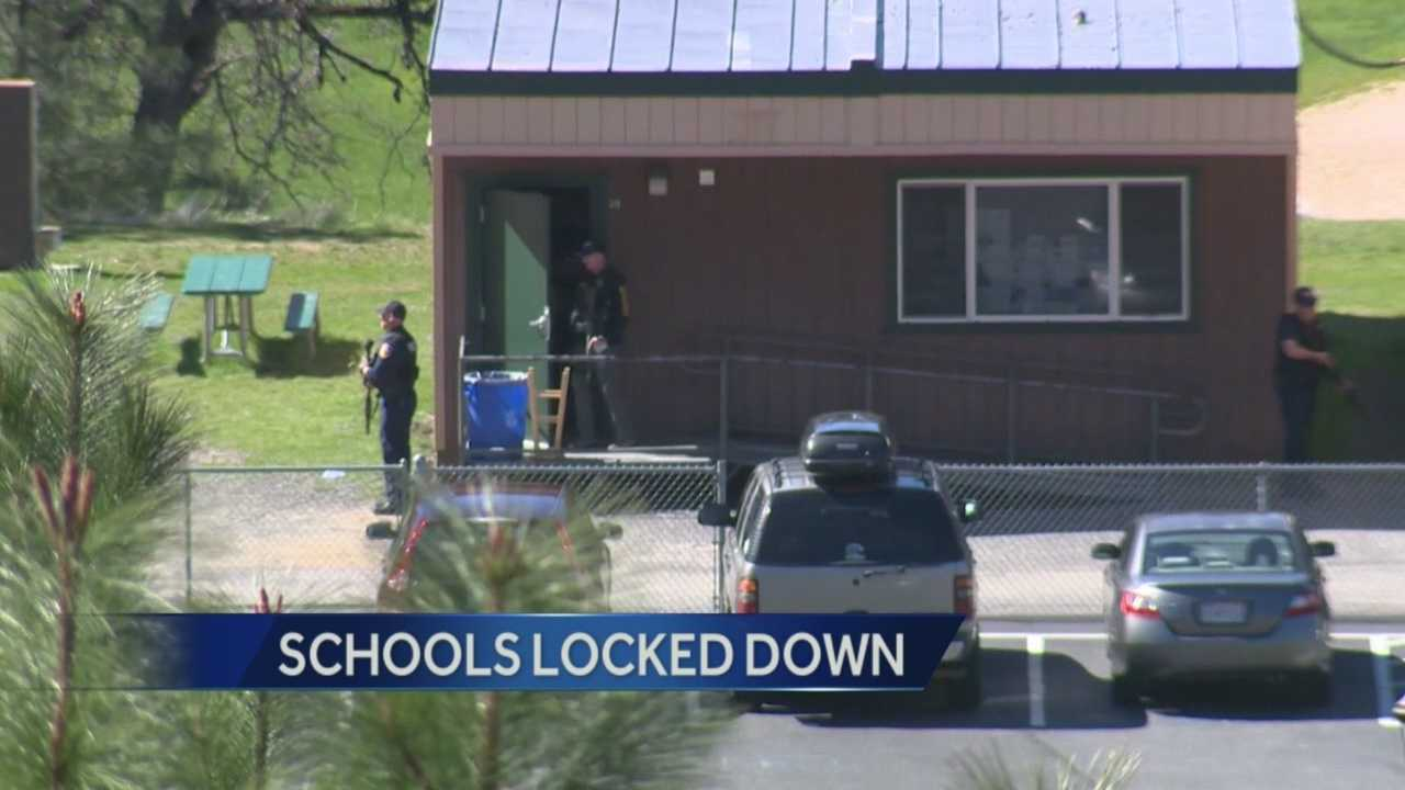 Report of gunman locks down 2 schools in Colfax