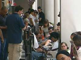 Customers lined up at Arden Fair Mall on June 29, 2007, to buy the first iPhone.