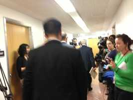 After a short exit, FBI agents go back into Yee's office.