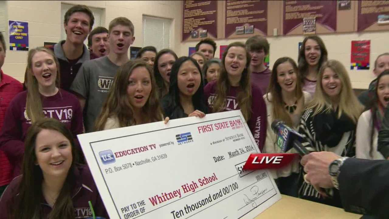 Whitney High School in Rocklin was recently named the Best Overall Network in a US Education TV Challenge.
