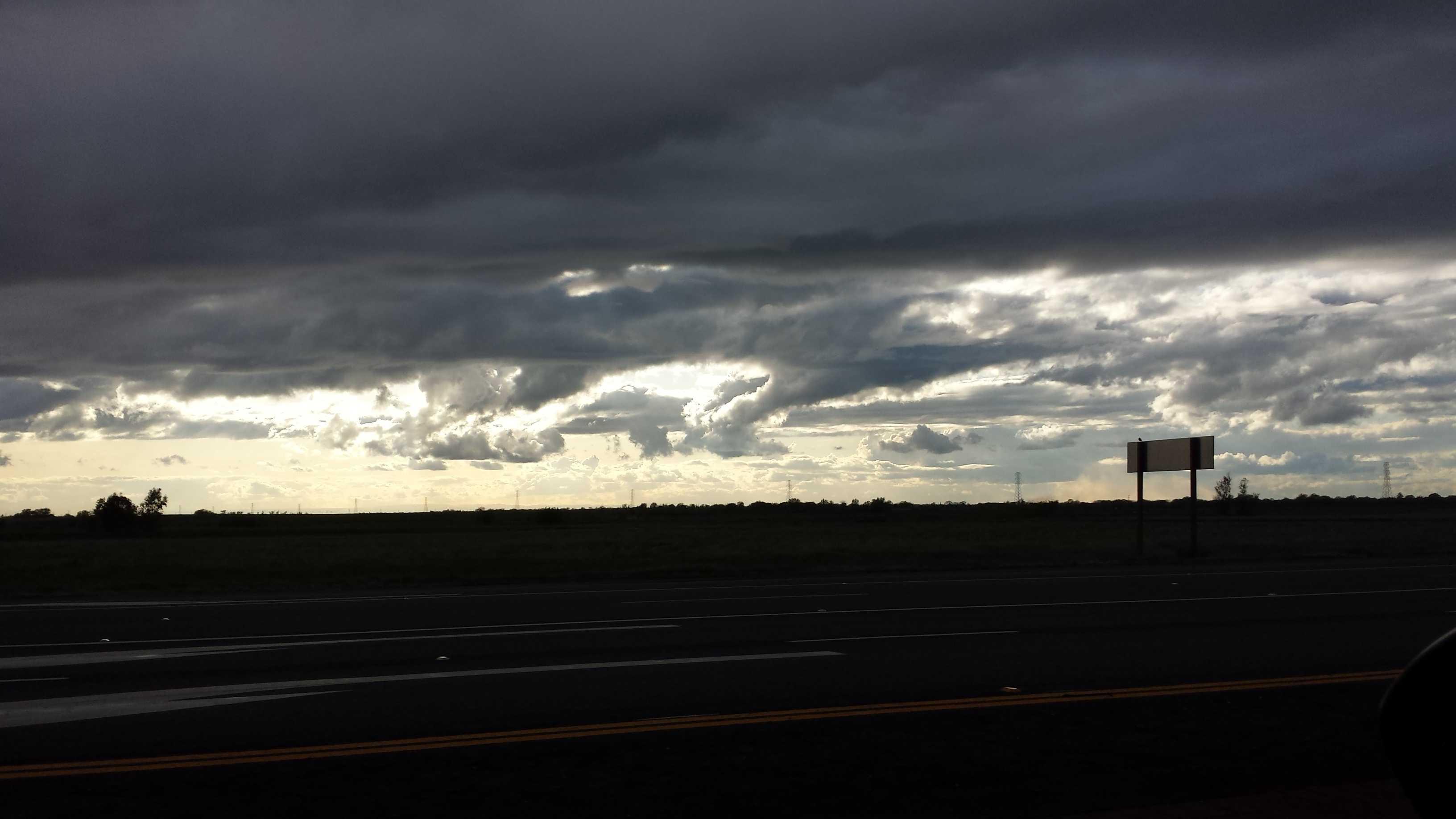 Wheatland storm clouds