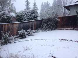 Snowfall in Grass Valley