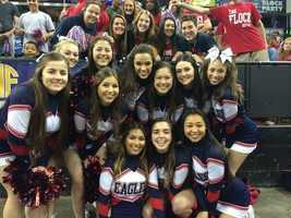 Pleasant Grove's cheer squad.