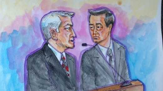 Sen. Leland Yee and his attorney, James Lessart, were arraigned in San Francisco federal court.