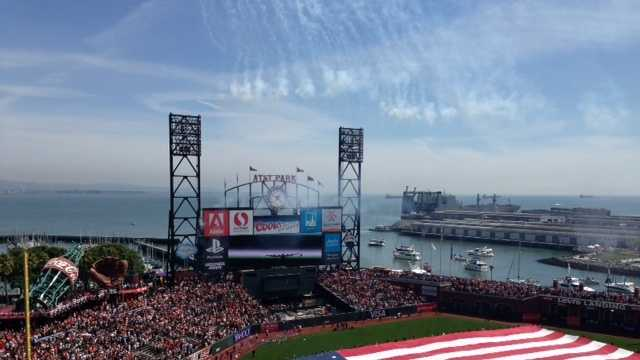 San Francisco Giants AT&T Park home opener