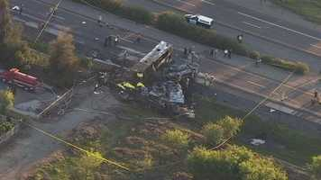 Nine people died and 35 others were hospitalized after a tour bus crash on Interstate 5 in Glenn County, the California Highway Patrol confirmed to Redding station KRCR.