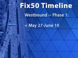 Only one lane will be open on the Connector ramp from northbound Highway 99 to westbound Highway 50.