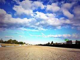 The inside lanes of eastbound Highway 50. (April, 22, 2014)