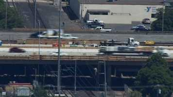 On Wednesday, three workers were injured when a truck crashed into construction materials along the W/X Freeway portion of Highway. However, morning traffic was able to move with relative ease.