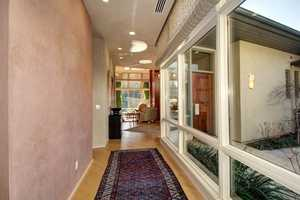 The home is situated in area near Ancil Hoffman Golf Course.