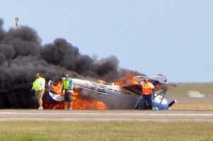 Officials canceled the air show after the crash.