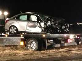 The driver of the minivan was pronounced dead at the scene and several others were taken to the hospital.
