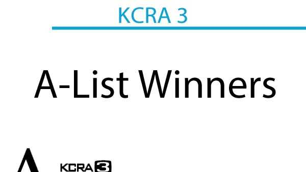 Every day this week KCRA 3 revealed the winners of the 2014 A-List. On Friday, the winners in the following categories were announced: Arts and Entertainment, Nightlife, and Specialty Food and Drink.