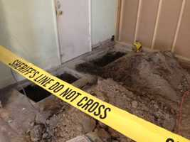 The Sacramento Sheriff's Department says human bones were discovered underneath the foundation of Isleton's Del Rio Hotel.