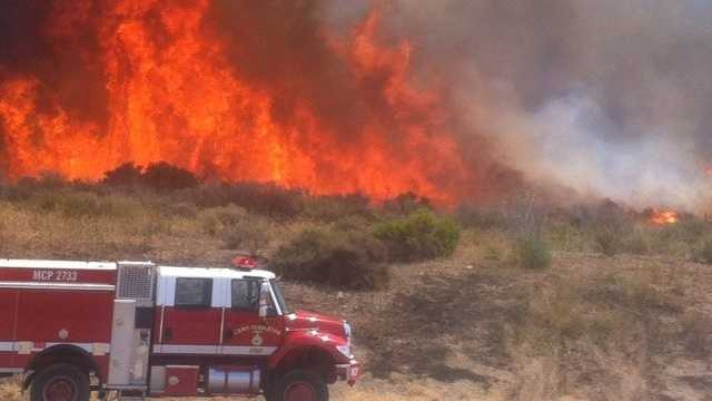 Calif fire near Camp Pendleton
