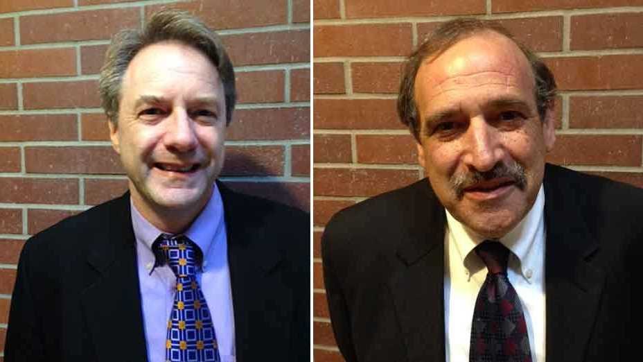 Attorney General candidates Ronald Gold (right) and Jonathan Jaech (left)
