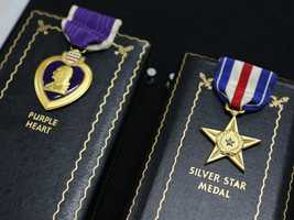 This Purple Heart and Silver Star are among the unclaimed property being heldby the California State Controller's Office. Read more about how to claim unclaimed property: http://www.sco.ca.gov/upd_contact.html