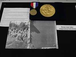 This Navajo Code Talkers Congressional Gold Medal and Native American Warrior Veterans Memorial Association Medal are among the unclaimed property being held by the California State Controller's Office. Read more about how to claim unclaimed property: http://www.sco.ca.gov/upd_contact.html