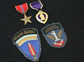 This Bronze Star, Purple Heart and patches are among the unclaimed property being held by the California State Controller's Office. Read more about how to claim unclaimed property:http://www.sco.ca.gov/upd_contact.html