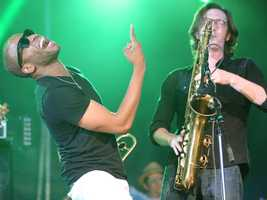 """Troy """"Trombone Shorty"""" Andrews and Tim McFatter perform at the Sacramento Music Festival and Jubilee on May 23."""
