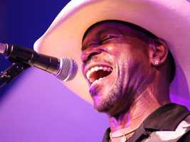 Lloyd Meadows of the Zydeco Flames performs with his band at the Sacramento Music Festival and Jubilee on May 23.