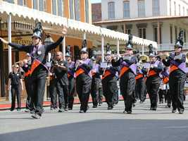 A band marches in the Sacramento Music Festival and Jubilee parade on May 24.