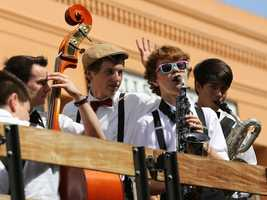 Young musicians ride in the Sacramento Music Festival and Jubilee parade on May 24.