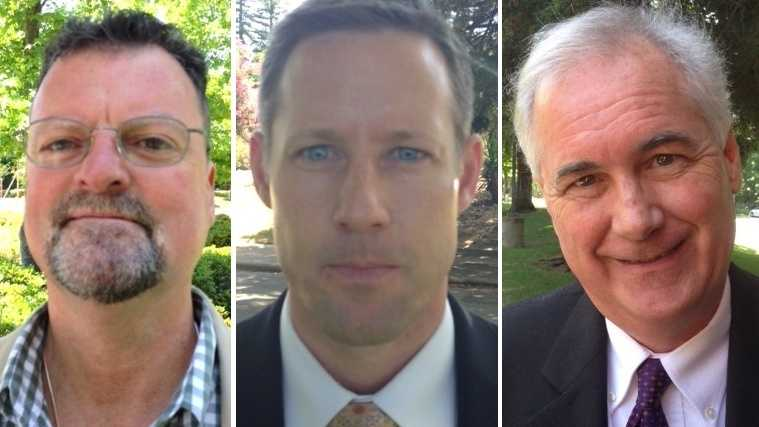 From left, candidates Jeff Gerlach, Art Moore and Tom McClintock.