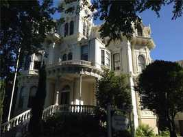 Gov. Jerry Brown had dinner with his cabinet at the old governor's Mansion on H Street in Sacramento.