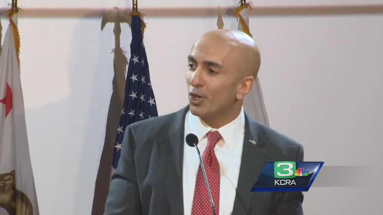 """Neel Kashkari told his supporters he was """"feeling good"""" after early returns showed him in second place in the gubernatorial race."""