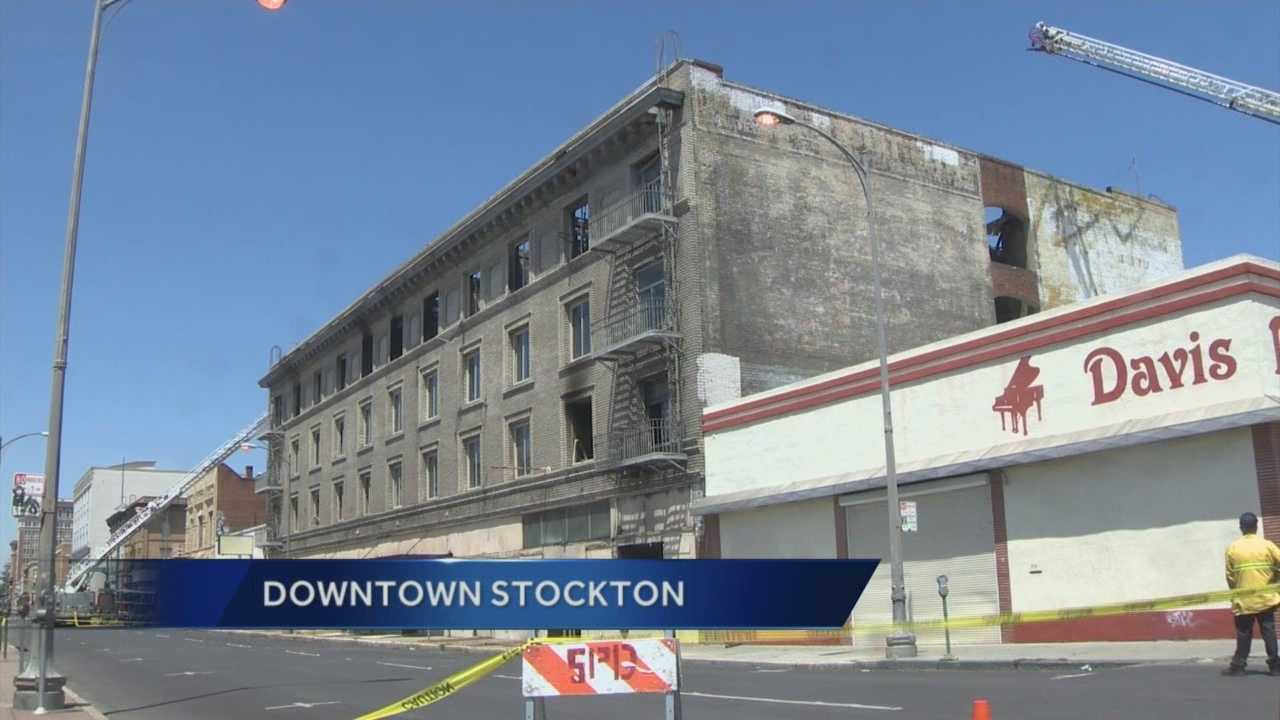 Building burned in Stockton is a complete loss