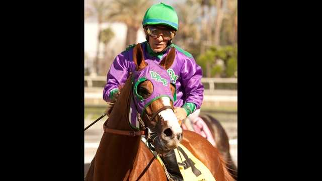 Jockey Victor Espinoza riding California Chrome