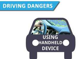 Using a handheld deviceThis everyday activity makes you 4.7 times more likely to be involved in a crash.