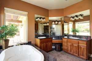 Here's a peek inside the master bathroom.