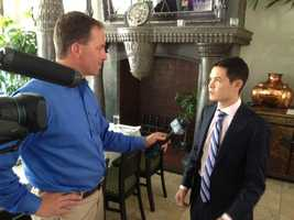 KCRA's Brian Hickey interviews NASCAR Sprint Cup Series driver Kyle Larson Wednesday in Elk Grove. (June 18, 2014)